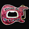 Guitar Belt Buckle - Rock Star